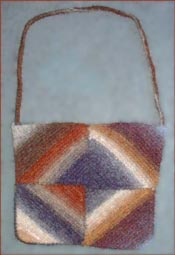 Knitted Felted Mitered Squares Bags Pattern - PDF