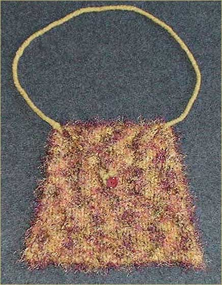 Wool & Eyelash Yarn Felted Bag