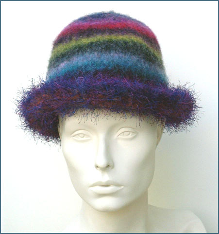 Felted Eyelash Roll Brim Hat